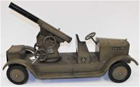 Dayton SON-NY US Army Cannon Pressed Steel Toy Truck