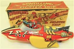 Marx Tin Rocket Fighter Ship Toy MIB