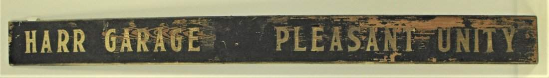 Harr Garage Pleasant Unity Pa Sand Painted Wood Sign