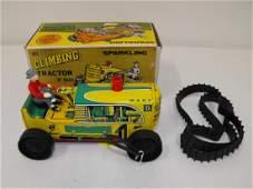 Marx Climbing Tractor Tin Wind Up Toy MIB