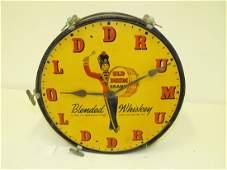 Old Drum Whiskey Advertising Clock
