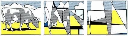ROY LICHTENSTEIN Cow Going Abstract