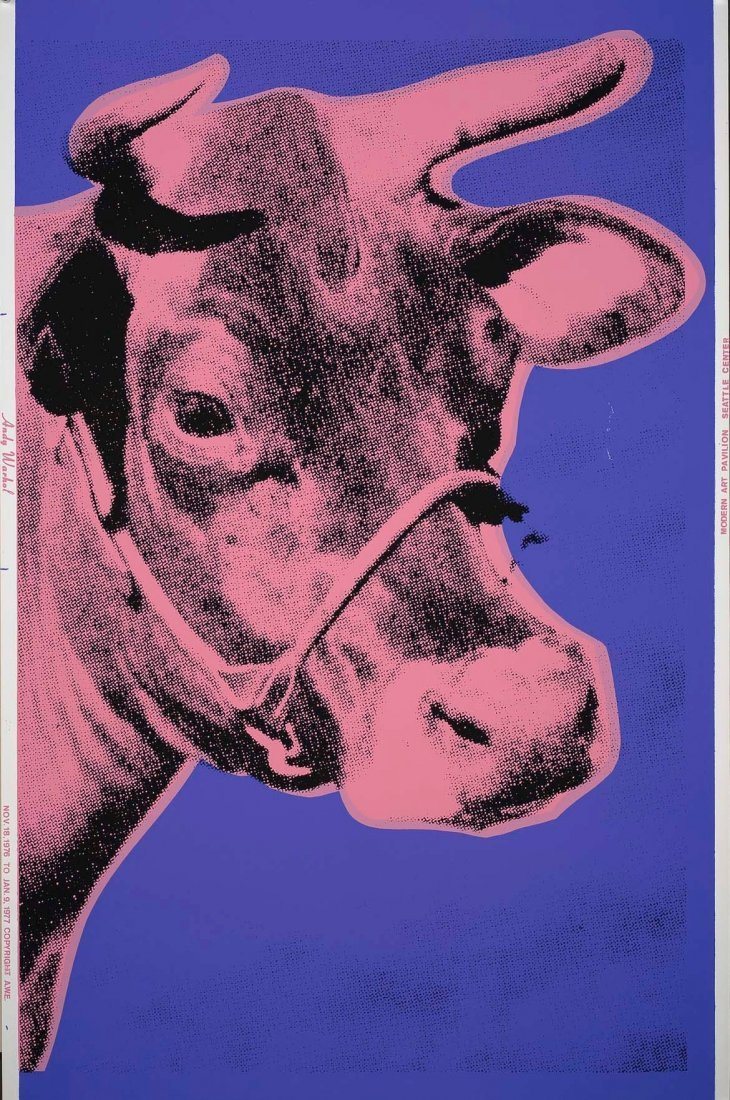ANDY WARHOL Cow: Purple and Pink