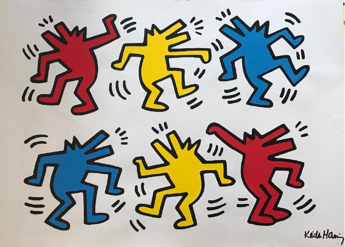 KEITH HARING Dancing Dogs