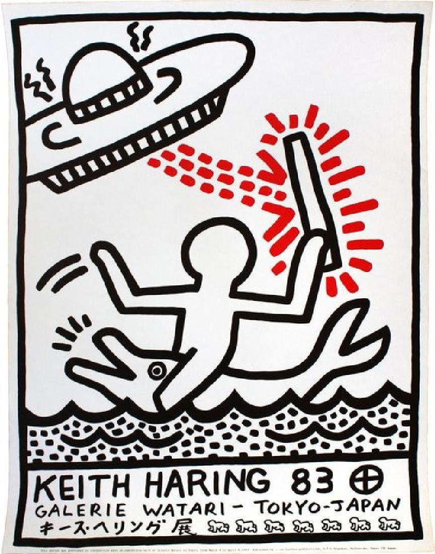 KEITH HARING Galerie Watari Exhibition Poster