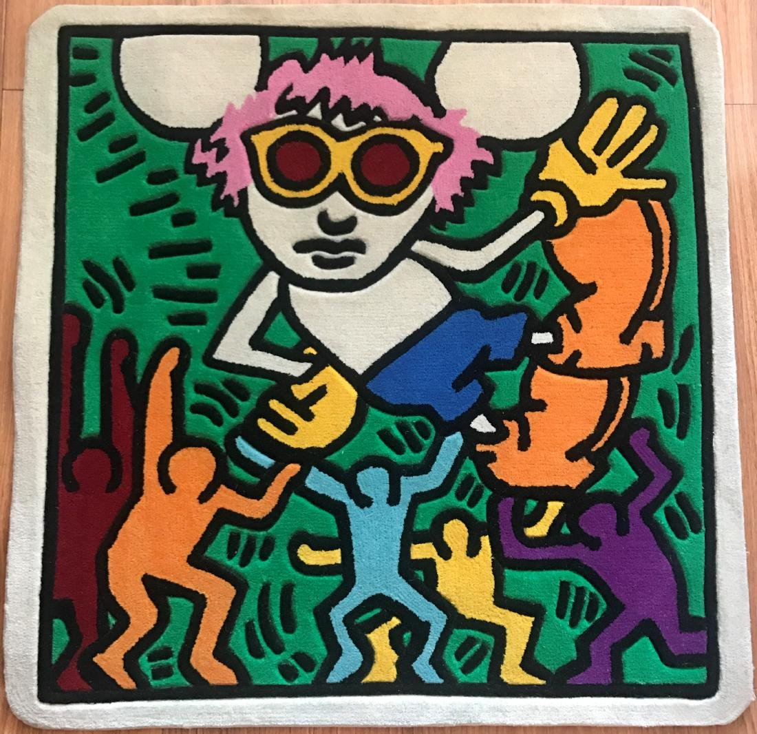 KEITH HARING (After) Andy Mouse Carpet Colors