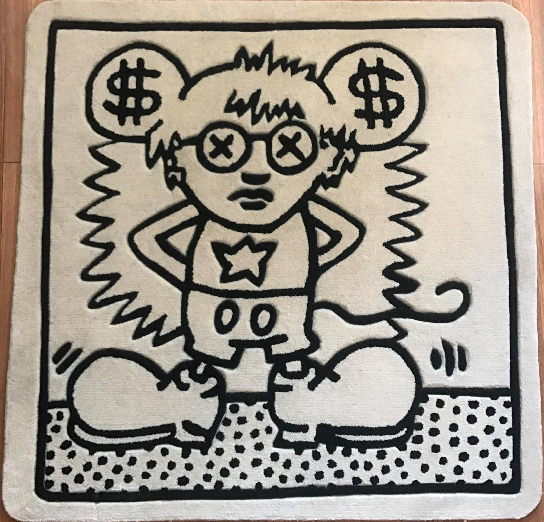 KEITH HARING (After) Andy Mouse Black/White