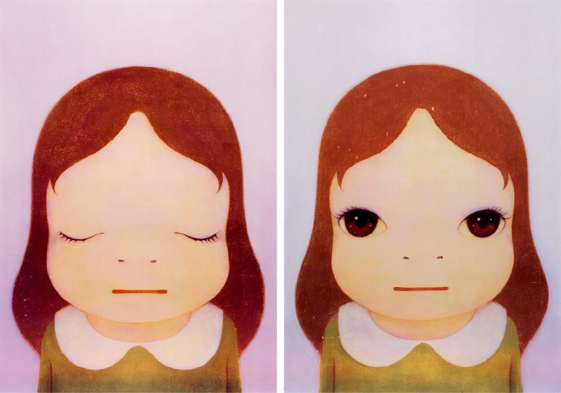 YOSHITO NARA Cosmic Girl (Eyes Open, Eyes Shut)