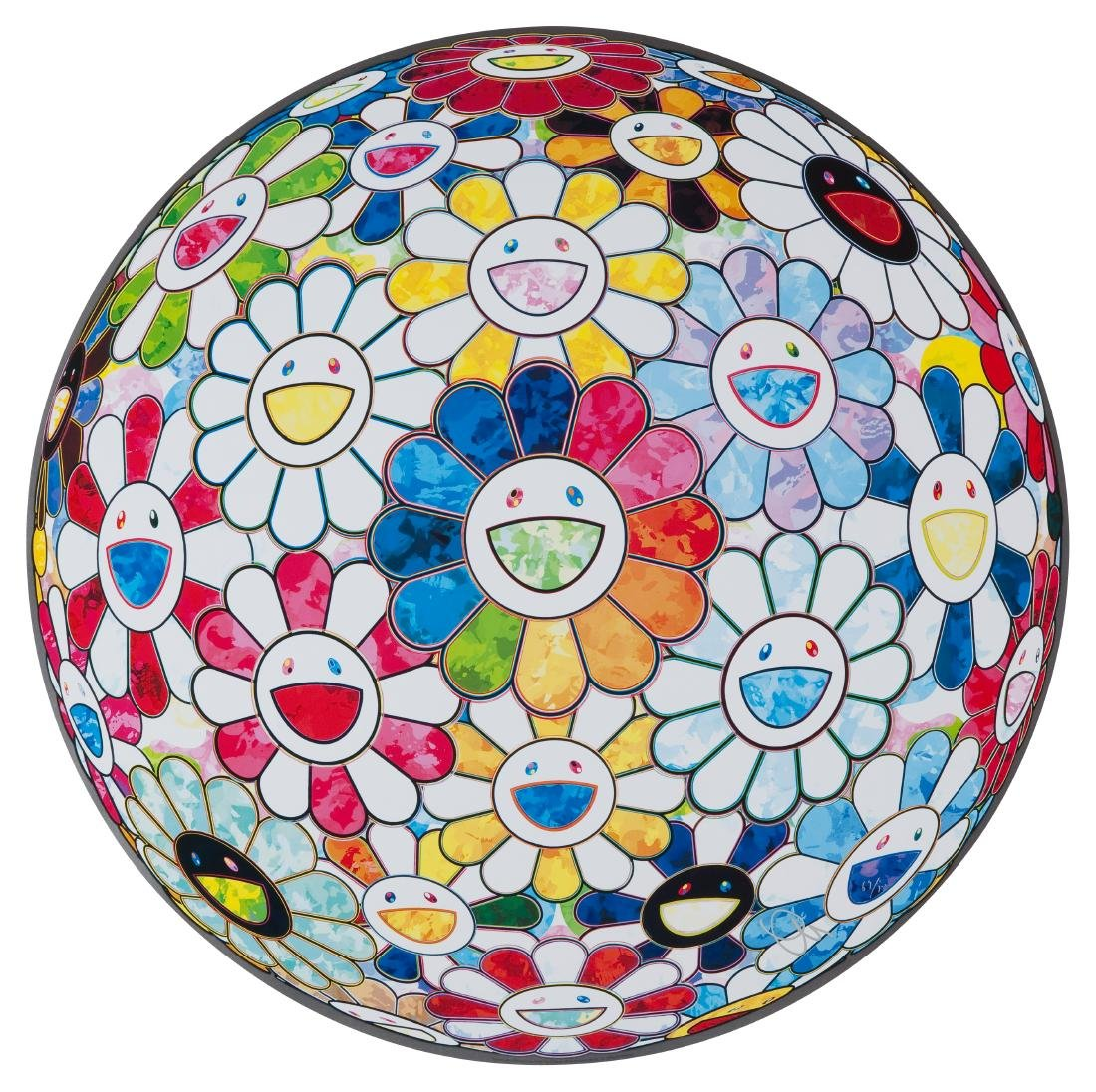 TAKASHI MURAKAMI Scenery With A Rainbow In The Midst