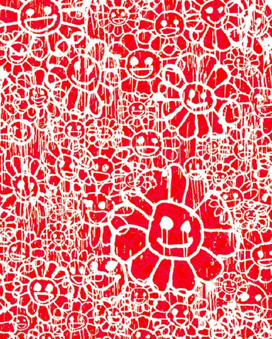 TAKASHI MURAKAMI Madsaki Flowers B Red