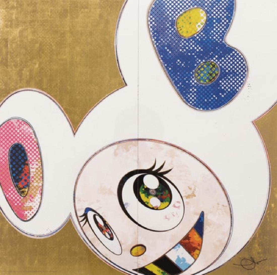 TAKASHI MURAKAMI Dob in Pure White Robe (Pink & Blue)