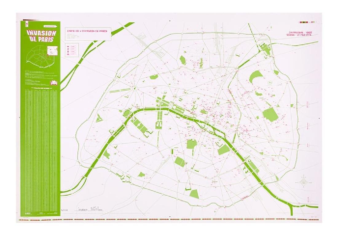 INVADER Invasion Map of Paris 2.0