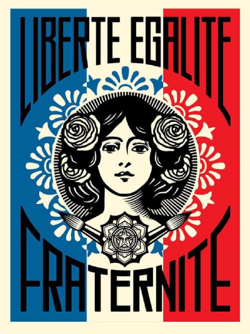 SHEPARD FAIREY Liberté, Egalité, Fraternité