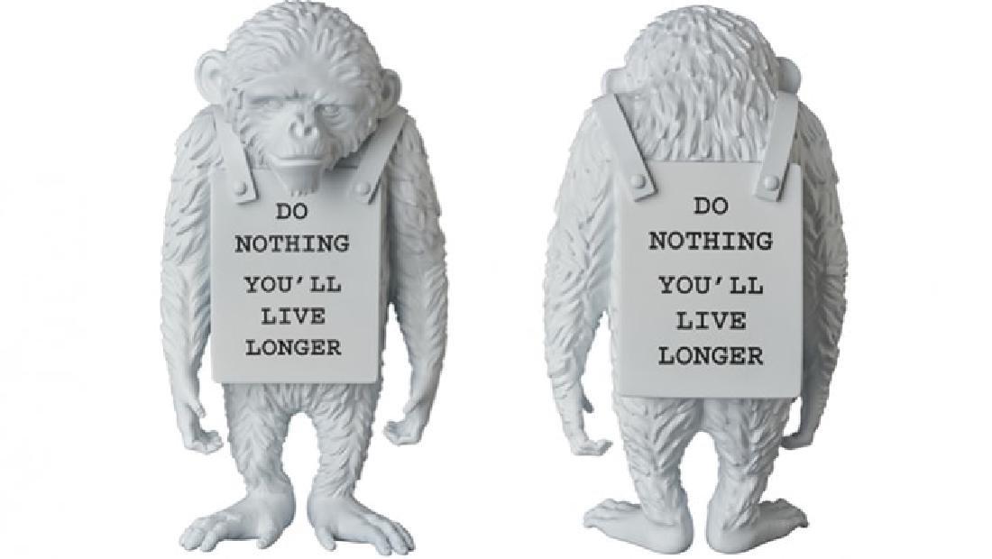 """MEDICOM Banksy Monkey """"Do Nothing You ll live"""