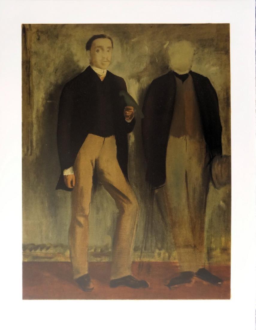 Two men in full-length portrait, Mourlot lithograph -