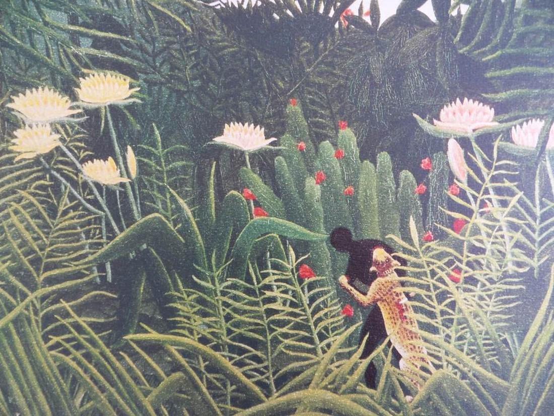 Rainforest landscape, signed lithograph, 1976 - Henri