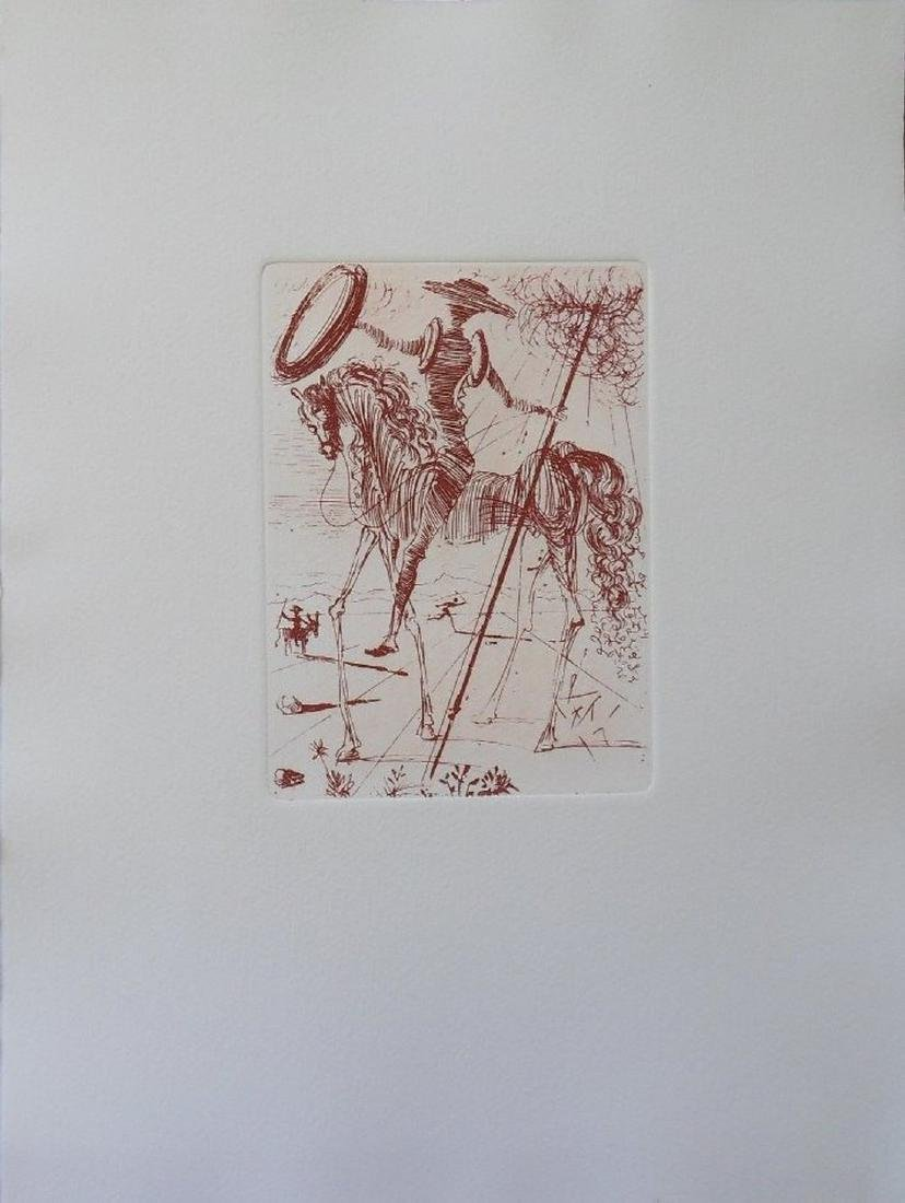 Don Quixote, Etching - Salvador Dali