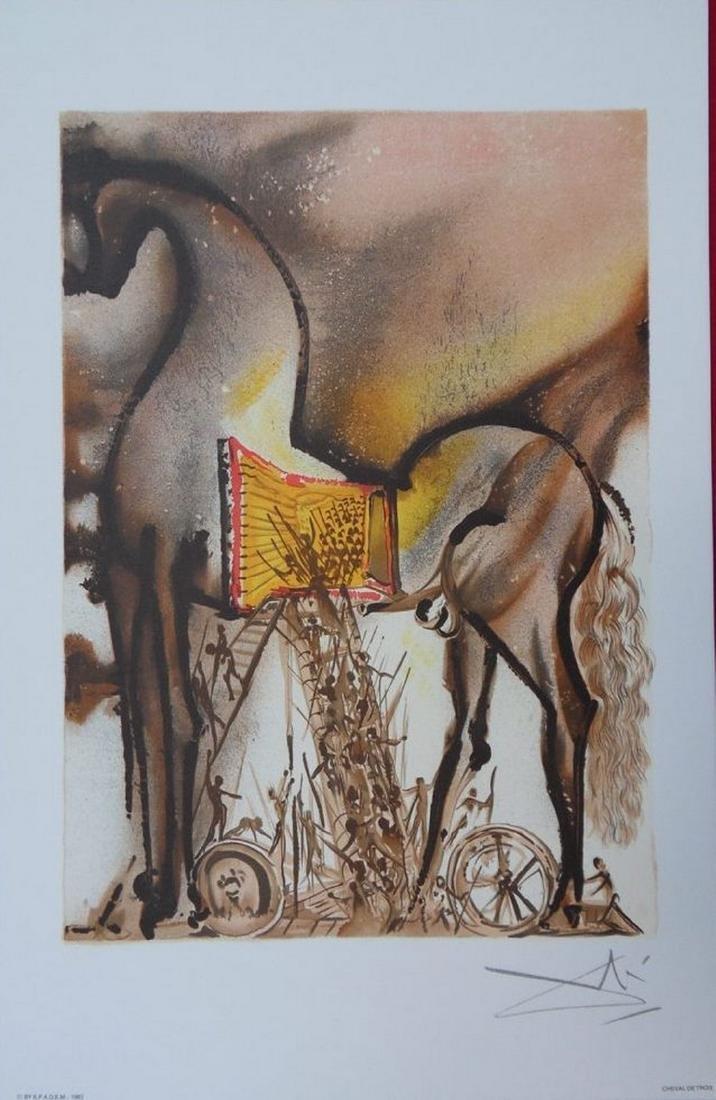 Dalinian Horses, 18 signed lithographs - Salvador Dali