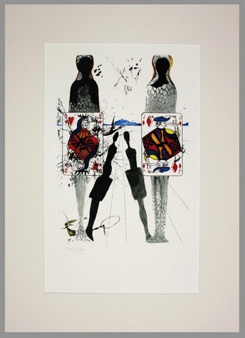 Alice in Wonderland, lithograph - Salvador Dali