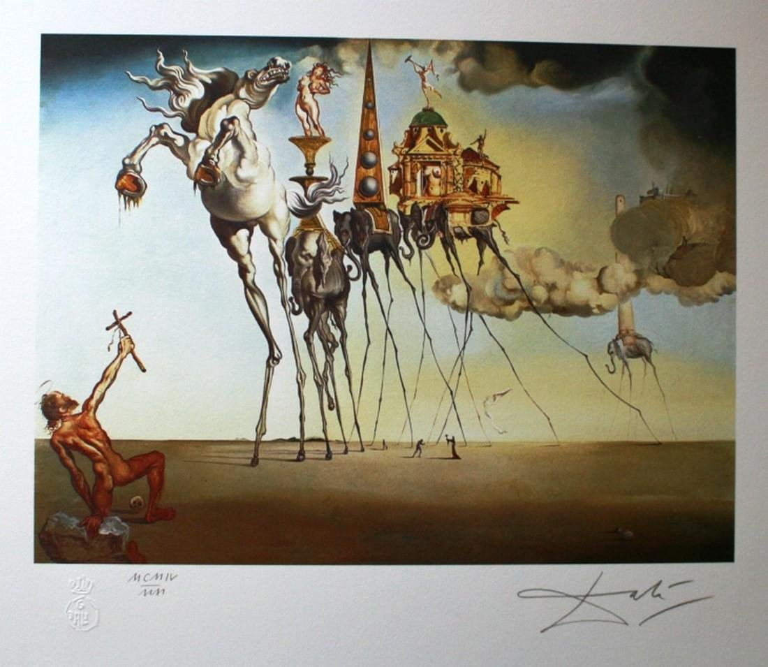 The temptation of St-Anthony, 1988, Lithograph -
