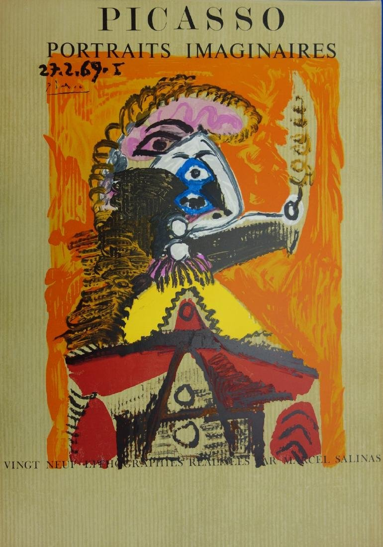 Imaginary Portrait, Man with a sword, signed lithograph
