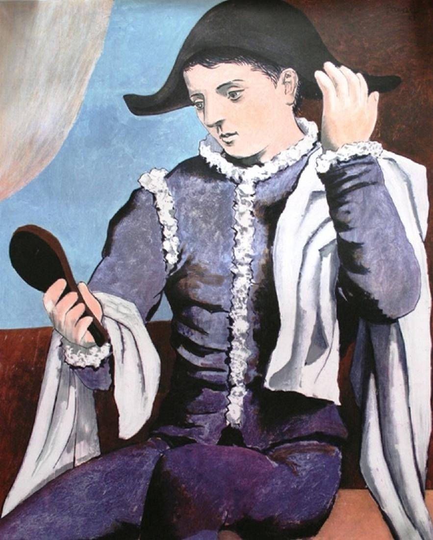 Harlequin, lithographic poster - Pablo Picasso