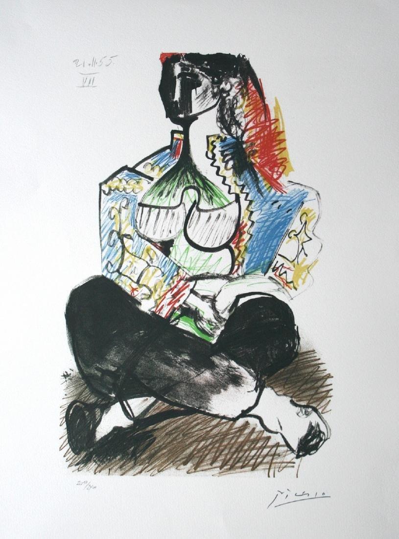 Lithographie intitulée arlequin - Pablo Picasso