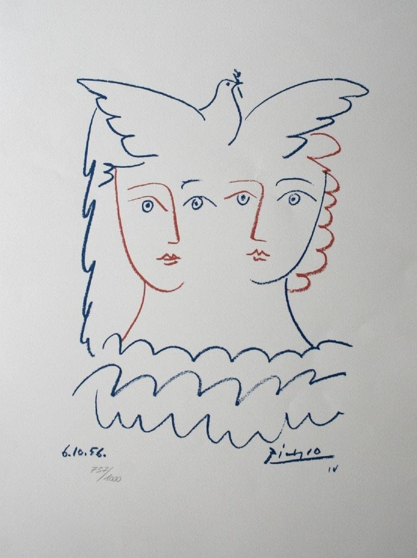Lithograph called 2 women with dove - Pablo Picasso