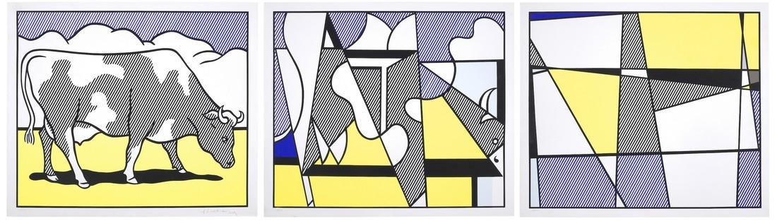 Cow Going Abstract - Roy Lichtenstein