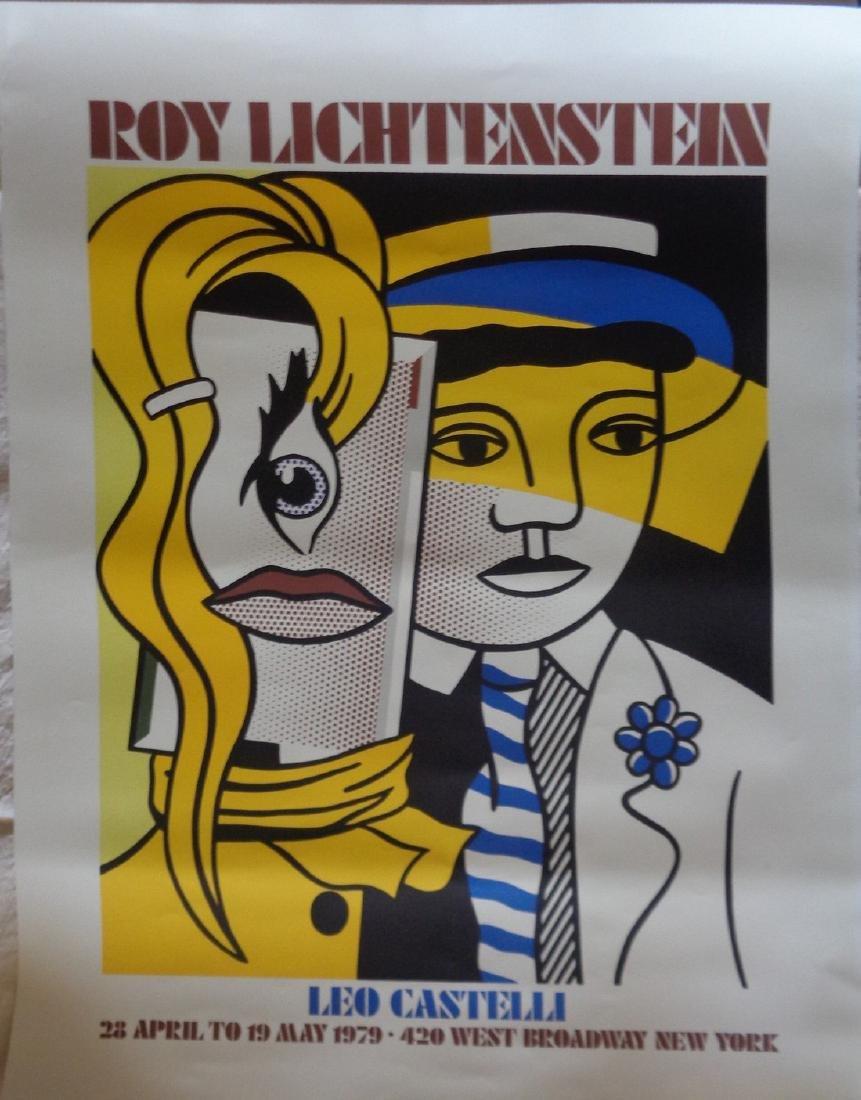 Exhibition poster Roy Lichtenstein Leo Castelli Gallery