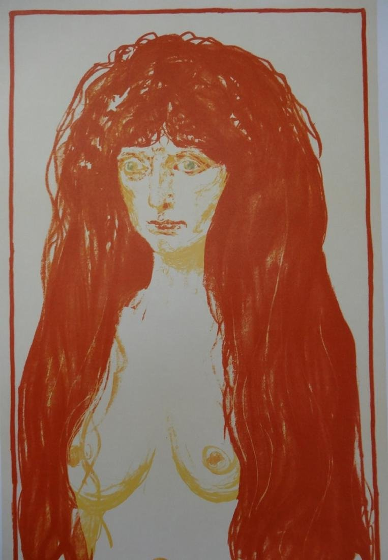 Red-headed woman, original lithographic poster, 1969 -