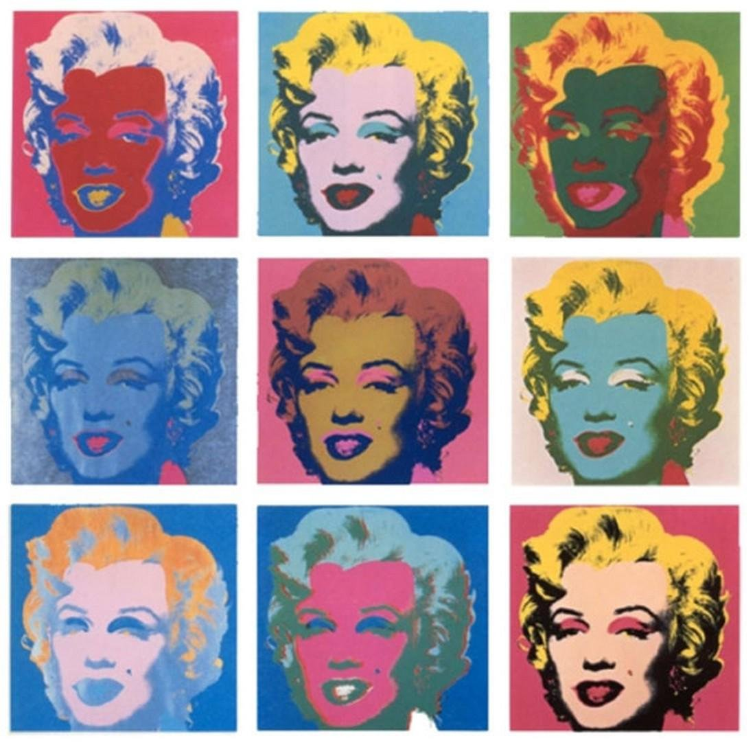 Series of 10 Marilyn Monroe (1967), Granolithograph -