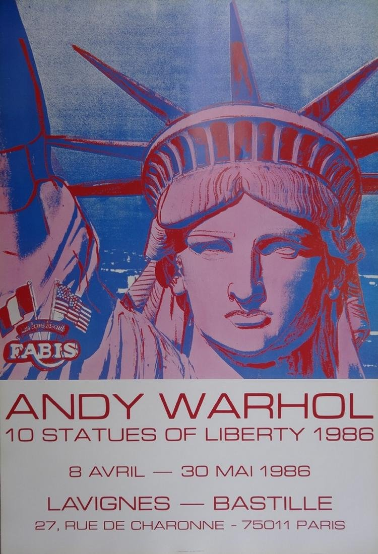 10 Statues of Liberty, Original poster 1986 - Andy