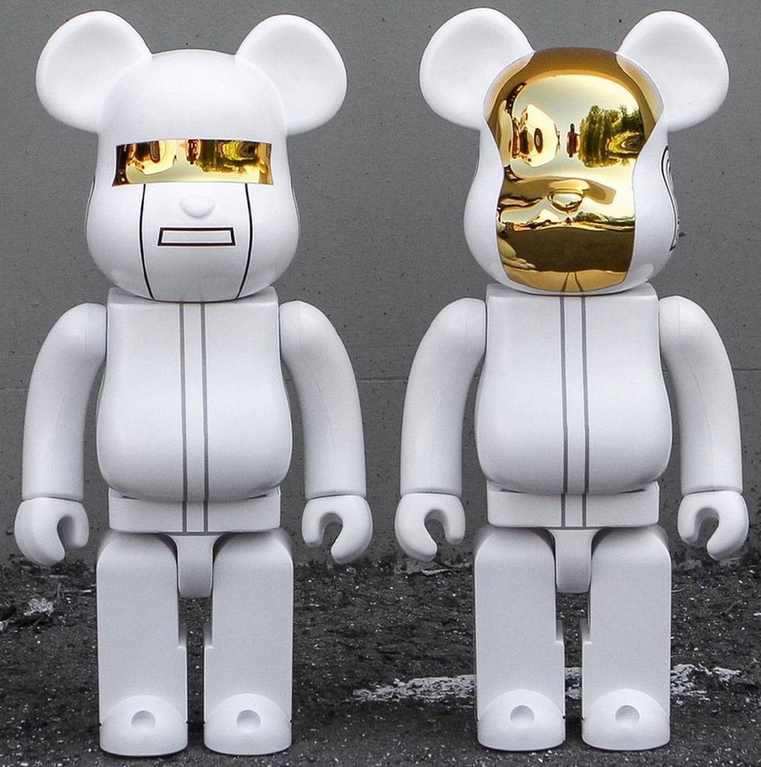 Set Daft Punk RAM 400% White - Be@rbrick