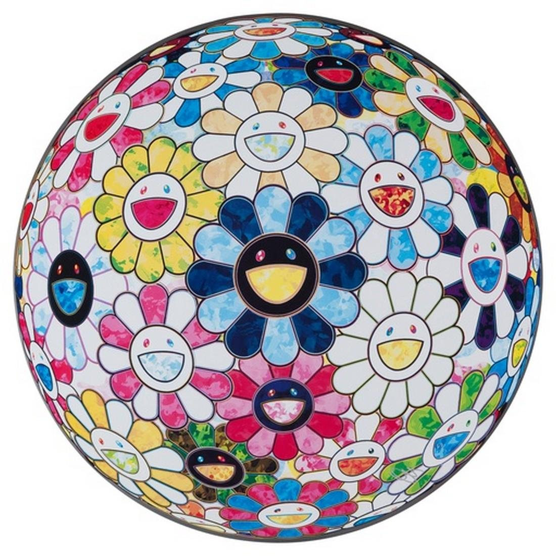 The Flowerball's Painterly Challenge - Takashi Murakami