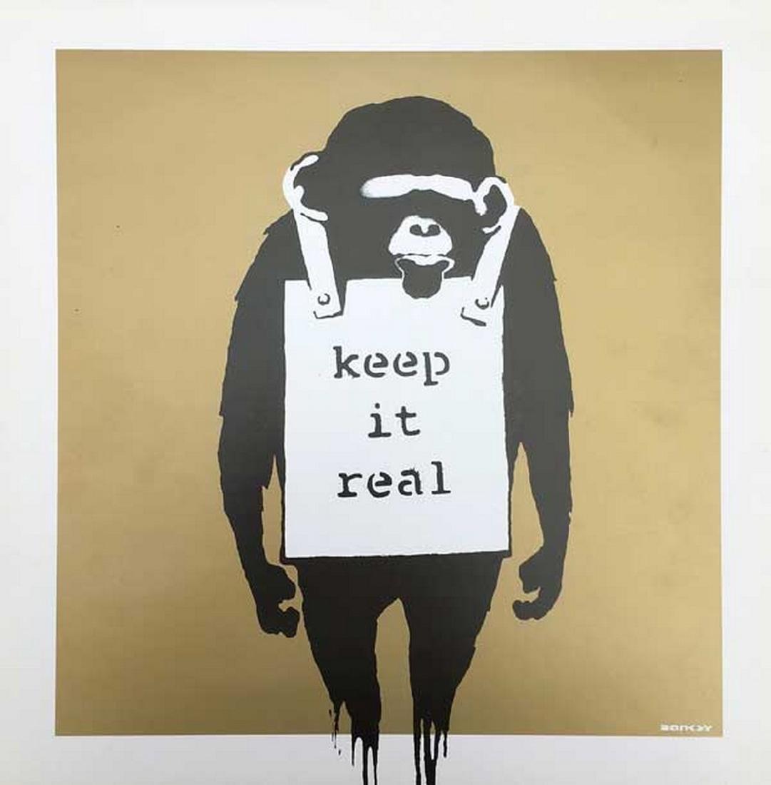 Keep it Real Gold - Banksy