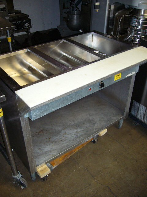 "69: 44"" 3comp. Electric Steam Table"