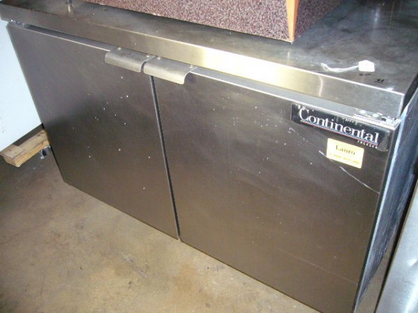 "88: Continental 2dr. 48"" Work Top Freezer"