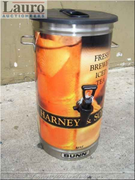 115C: Bunn S/S Oval Iced Tea Dispenser w/ Lid