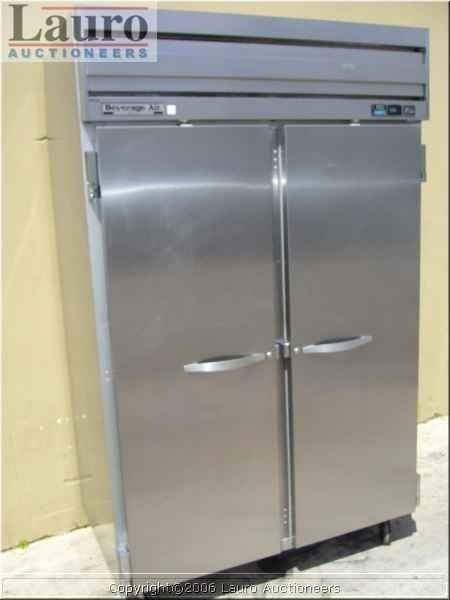 135C: Beverage Air EF48-1AS 2dr. S/S Upright Freezer -