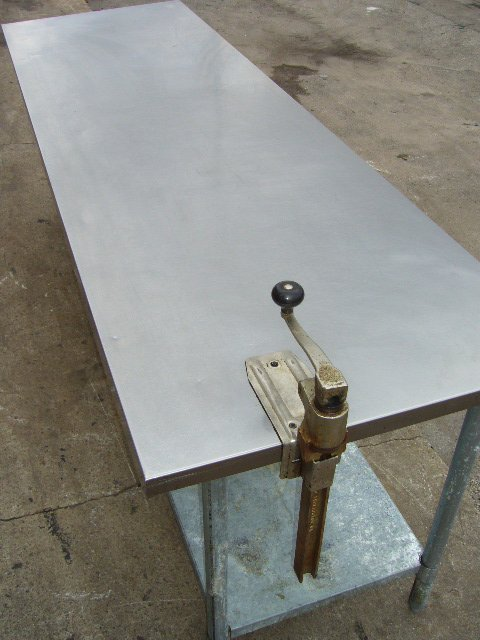 """3F: 96"""" S/S Work Table w/ Can Opener"""