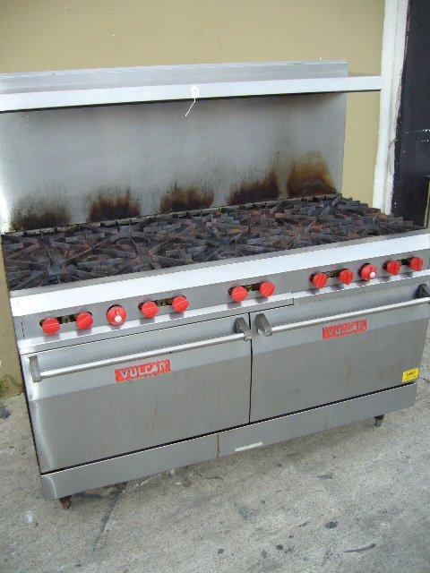 14F: Vulcan 10 Burner Range w/ (2) Ovens