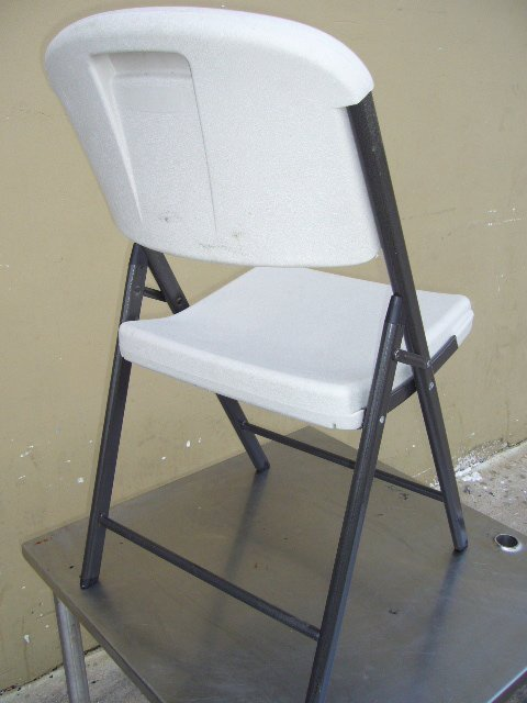 41F: (37) Lifetime C51000 White Plastic Folding Chairs - 2