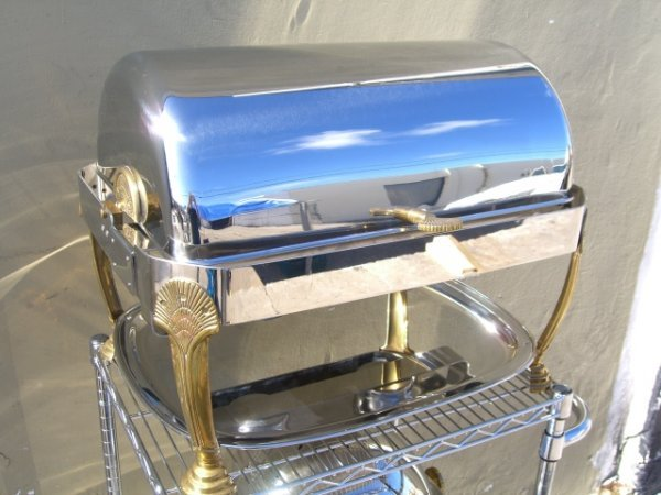 73: Like New Roll Top Chafing Dish Heavy Duty