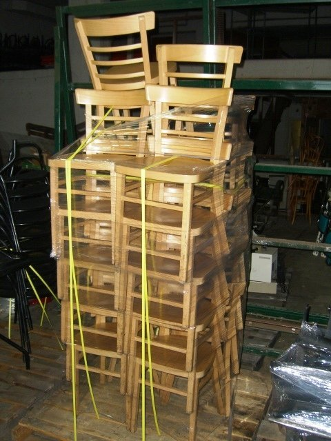 64A: (26) Lightwood Ladderback Dining Chairs