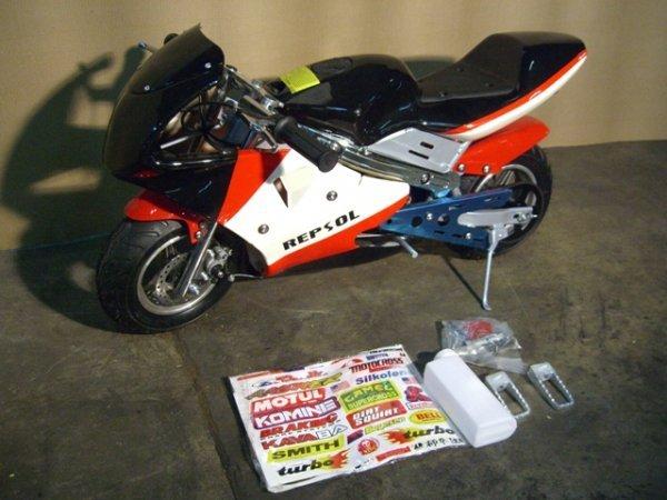 3B: New VelocitaBikes Mini Motorcycle 49cc