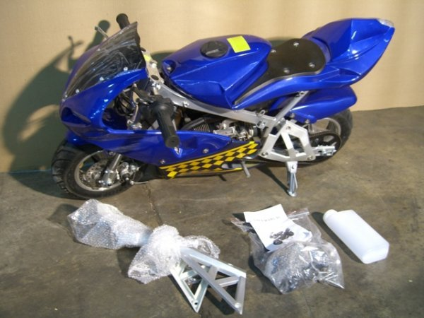4B: New VelocitaBikes Mini Motorcycle 49cc