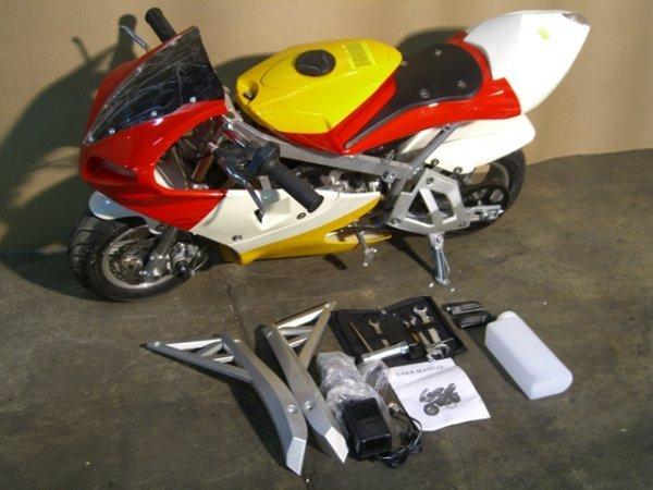 5B: New Pocket Bike GLT-1 Mini Motorcycle 49cc