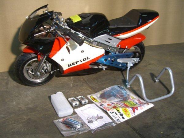 6B: New VelocitaBikes Mini Motorcycle 49cc