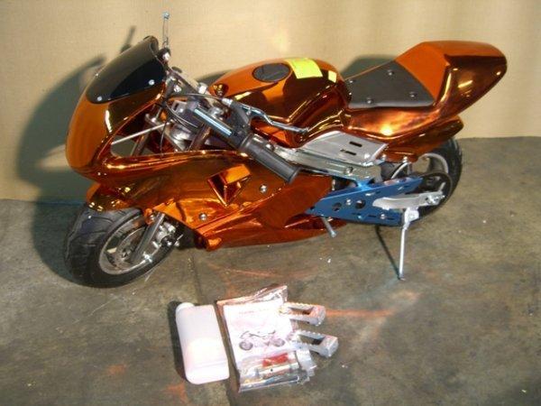 7B: New Pocket Bike GLT-1 Mini Motorcycle 49cc